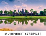 Angkor Wat With Reflection On...