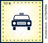 taxi icon | Shutterstock .eps vector #617869886