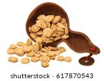 astragalus root slices | Shutterstock . vector #617870543