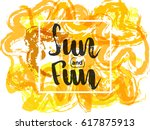 bright colorful background with ... | Shutterstock .eps vector #617875913
