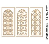 traditional arabic window and... | Shutterstock .eps vector #617875994