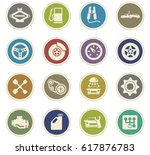 car service vector icons for... | Shutterstock .eps vector #617876783