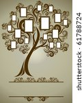 vector family tree design with... | Shutterstock .eps vector #61788724