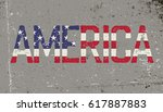 america. grunge word sign.... | Shutterstock .eps vector #617887883