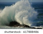 Seascape With Large Breaking...