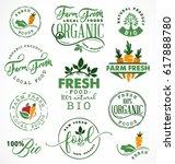 farm fresh organic and bio food ... | Shutterstock .eps vector #617888780