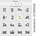 industrial equipment web icons... | Shutterstock .eps vector #617890328