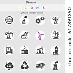 industry web icons for user... | Shutterstock .eps vector #617891390