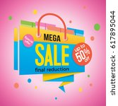 sale label price tag banner... | Shutterstock .eps vector #617895044