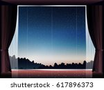 view of landscape at sunset in... | Shutterstock .eps vector #617896373
