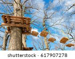 obstacle course for training... | Shutterstock . vector #617907278