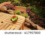 summer beautiful garden with... | Shutterstock . vector #617907800