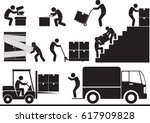 moving and transportation icon... | Shutterstock .eps vector #617909828