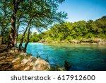 guadalupe river new braunfels ... | Shutterstock . vector #617912600