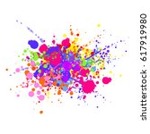 abstract splashes and drops of...   Shutterstock .eps vector #617919980