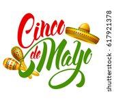 cinco de mayo emblem design... | Shutterstock .eps vector #617921378