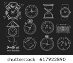 time icon set in cartoon style... | Shutterstock .eps vector #617922890