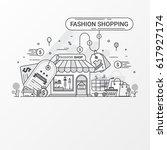 fashion shopping design concept.... | Shutterstock .eps vector #617927174