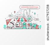 fashion shopping design concept....   Shutterstock .eps vector #617927258