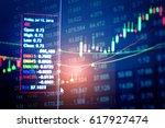 stock market digital graph... | Shutterstock . vector #617927474