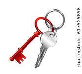 keychain isolated on white... | Shutterstock .eps vector #617929898