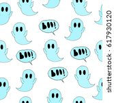 pattern of ghost. | Shutterstock .eps vector #617930120