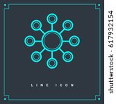 hub network connection line...   Shutterstock .eps vector #617932154