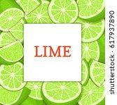 square white label on citrus... | Shutterstock .eps vector #617937890