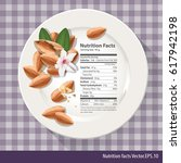 vector of nutrition facts one...   Shutterstock .eps vector #617942198