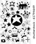many doodled stars   Shutterstock .eps vector #61794649