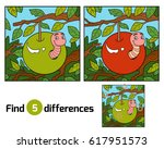 find differences education game ... | Shutterstock .eps vector #617951573