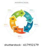 business circle arrows... | Shutterstock .eps vector #617952179