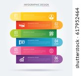 business infographic tab... | Shutterstock .eps vector #617952464