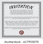 grey invitation template. with... | Shutterstock .eps vector #617953070