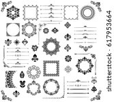 vintage set of vector... | Shutterstock .eps vector #617953664