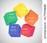template for diagram  graph ... | Shutterstock .eps vector #617954888