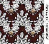 white wallpaper on texture... | Shutterstock .eps vector #617955350
