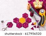 Preparation Of Hexagon Pieces...