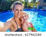 fun weekend alfresco. smiling... | Shutterstock . vector #617962184