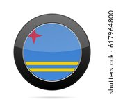 national flag of aruba. shiny... | Shutterstock .eps vector #617964800