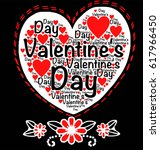 valentine's day words with... | Shutterstock .eps vector #617966450