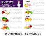 healthy food infographics... | Shutterstock .eps vector #617968139