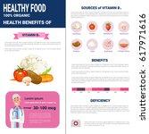 healthy food infographics... | Shutterstock .eps vector #617971616
