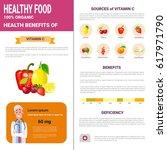 healthy food infographics... | Shutterstock .eps vector #617971790