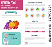 healthy food infographics... | Shutterstock .eps vector #617971829