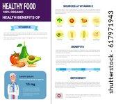 healthy food infographics... | Shutterstock .eps vector #617971943