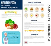 healthy food infographics... | Shutterstock .eps vector #617972990