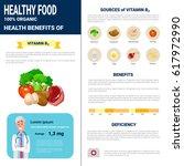 healthy food infographics... | Shutterstock .eps vector #617972990