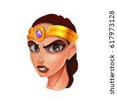 cartoon avatar character amazon ... | Shutterstock .eps vector #617973128
