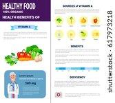 healthy food infographics... | Shutterstock .eps vector #617973218